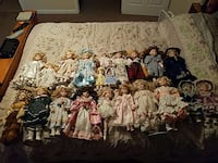 Porcelain dolls well took care of