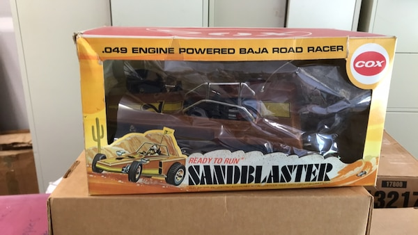 Vintage Cox Sandblaster Gas Powered Model Car