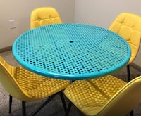 round blue and green metal table with chairs Montgomery Village, 20886