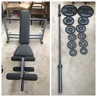 Body-Solid PowerCenter Rack Bench Combo + 185lbs Standard Barbell Olympic plates  Romeoville, 60446