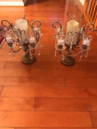 six clear glass candle holders Vienna, 22182