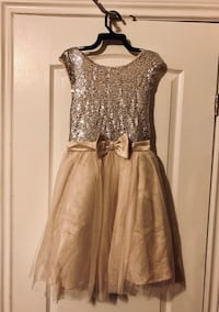 Champagne colored girl's dress  Toronto, M9R 3S8
