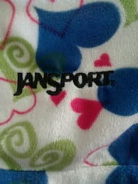 Jansport velour backpack