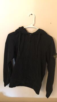 Authentic stone island black zip up hoodie Vaughan, L4L 8X1