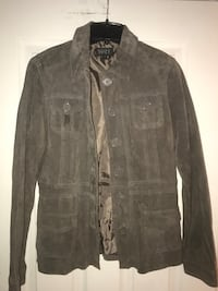 Suede Taupe Button -Up Jacket Toronto, M6H 4A5
