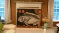 Fish Print on Large Canvas Bedford, 03110