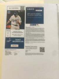 Two Dodgers vs Cubs tickets Oxnard, 93035