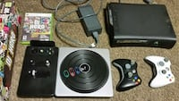 Xbox 360 console with wireless controllers