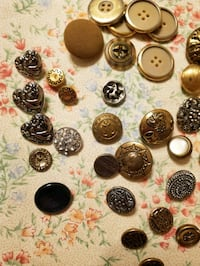 Vintage buttons for clothing or crafting