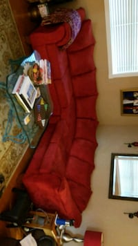 red suede padded sofa chair Metairie, 70001