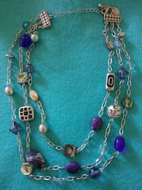 Lia Sophia 3 strand blue glass bead Middle River, 21220