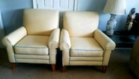 2 Cream Sofa Chairs - Moving Sale Fort Lauderdale, 33334