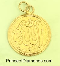 Sterling silver 24kt gold plated Allah pendant charm  Brampton, L6R 1X5