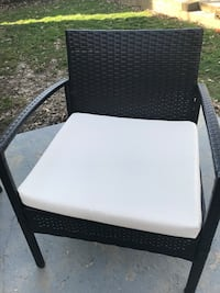 Patio furniture. 2 chairs, table and bench. Cushion covers need to be washed/replaced - some stains   University Heights, 44118