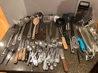 Large Lot of 70 Kitchen Utensils and Silverware 48 km