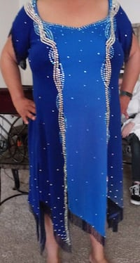 Blue bead and rhinestone ball room dress Germantown, 20874