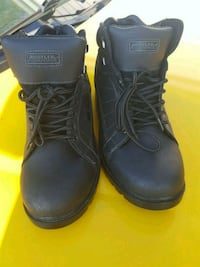 pair of black Timberland work boots Hamilton, 45013