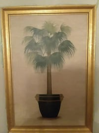 Gold  framed painting of brown and green tr Decatur, 30032