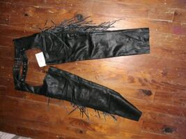 NWT Womens Black Leather Chaps