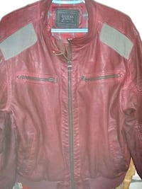 red leather zip-up jacket Kitchener, N2H 1C9