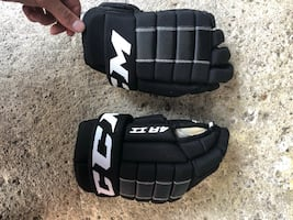 CCM hockey gloves