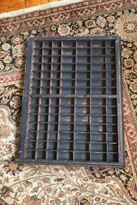 Vintage printer type tray letterpress drawer Washington, 20007