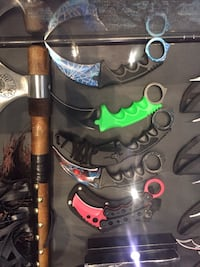 Fixed blade Karambits, new in box with hard case