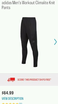 Brand new Adidas pants. 2 for 100 Guelph, N1H 7X7