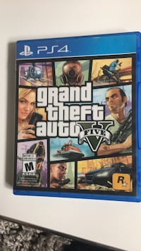 Grand theft auto V.   ps4 game case Brampton, L6V 3A8