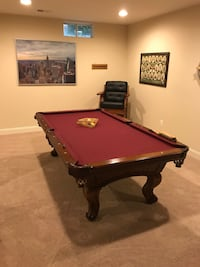 red and black pool table Rockville, 20850