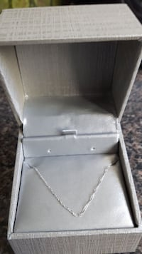 White Gold 18 inch Necklace 3163 km
