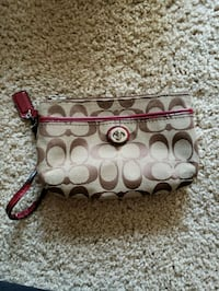 Brown and red coach clutch wallet  Newport News, 23606