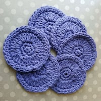 """6 Lavender Face Scrubbies - approx 3.5"""" - 4"""" wide Airdrie, T4B 0E4"""
