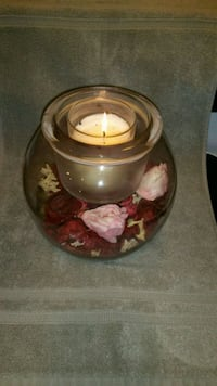 Partylite glass candle holder Trumbull, 06611