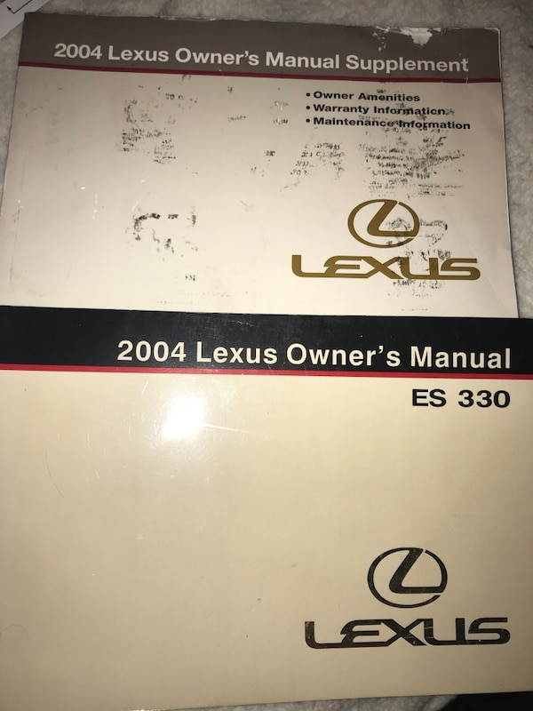 2004 Lexus ES 330 sedan owners manual and supplement