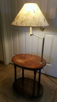 Vintage wood table/lamp Henderson, 89074