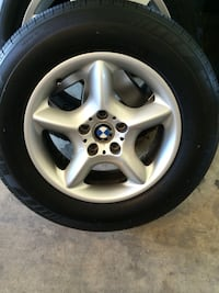 Gray 5-spoke car wheel with tire Annandale, 22003