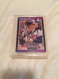 ''88-'89 Dale Murphy Signed Card (OBO) LaGrange, 30241