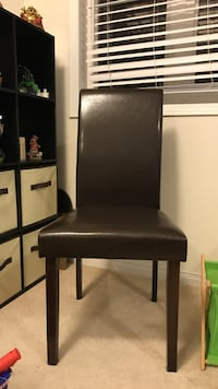 Brown faux leather dining chair Mississauga, L5M