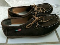 pair of brown leather boat shoes Washington