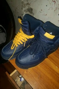 Navy blue and yellow AF1s  Woonsocket, 02895