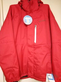 red and white zip-up hoodie Mississauga
