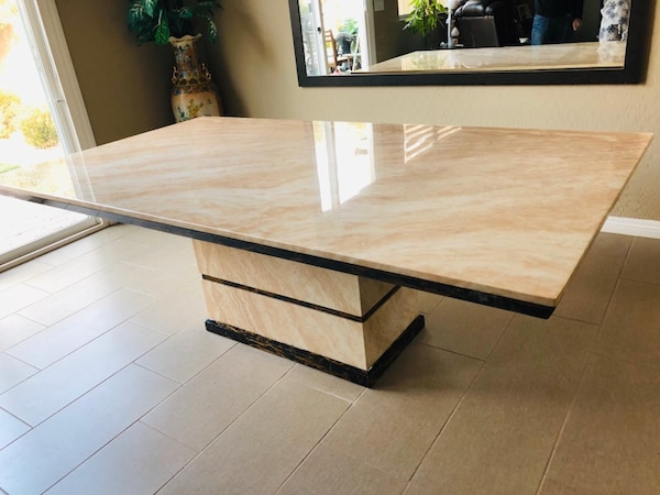 7pc Beige Marble table•Delivery and installation•No credit check a7257cc3-95df-4744-8c27-5b570fd2e181