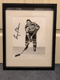 Boston Bruins Fern Flaman Signed and framed photo Châteauguay, J6K 2A7