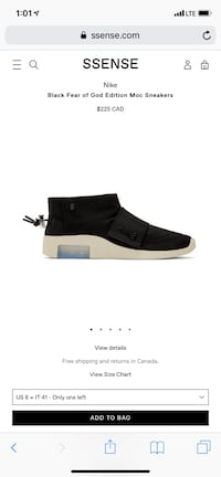 Black Fear of God Edition Moc Sneakers Mississauga, L5N 0B8