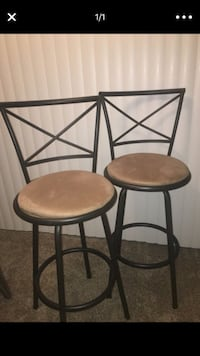 Faux Suede Barstools