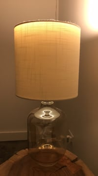 Glass table lamp with cream shade  New Orleans, 70112