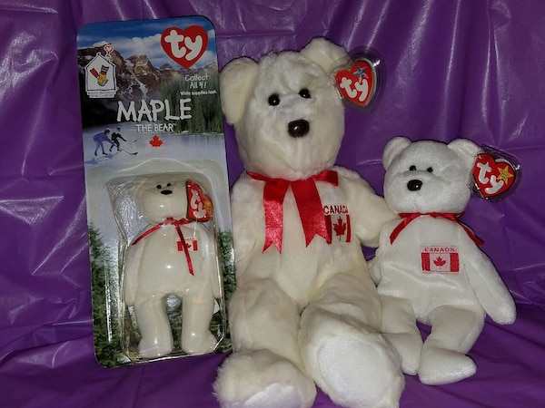 Used Ty Maple Canadian Beanie Baby 3f59696f4ec