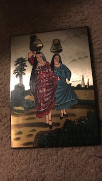 two women carrying vases painting