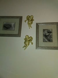 Two pictures of angels and two antique angel 2380 mi